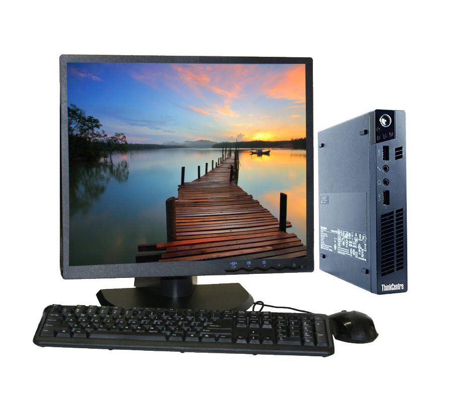 "Lenovo Thinkcentre M72e + 19"" LCD (Refurbished)"